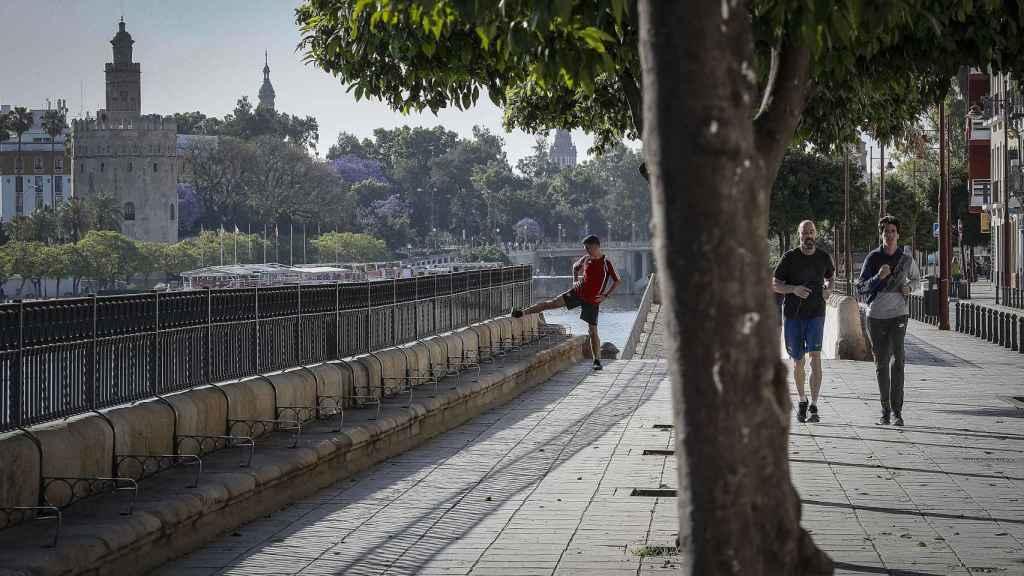 Barrio de Triana de Sevilla durante la fase 0 de la desescalada.