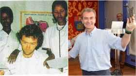 Fernando Simón, ejerciendo en África y recogiendo el premio a alumno destacado de su colegio del Opus.