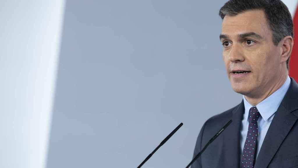 El presidente, Pedro Sánchez, en Moncloa.