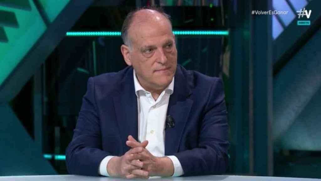 Javier Tebas, presidente de LaLiga, en El Partidazo de Vamos