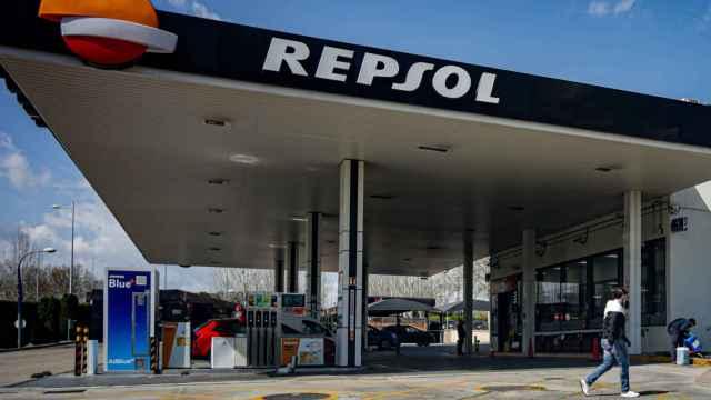 Una de las estaciones de servicio de Repsol.