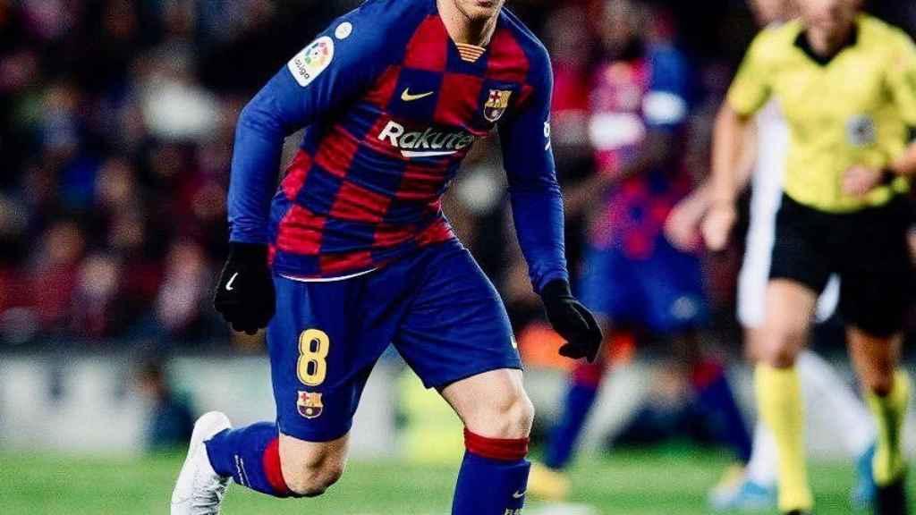 Arthur, durante un partido con el Barcelona