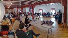 Reunión en Alcázar en la que se gestó la candidatura de unidad Cuidando Podemos