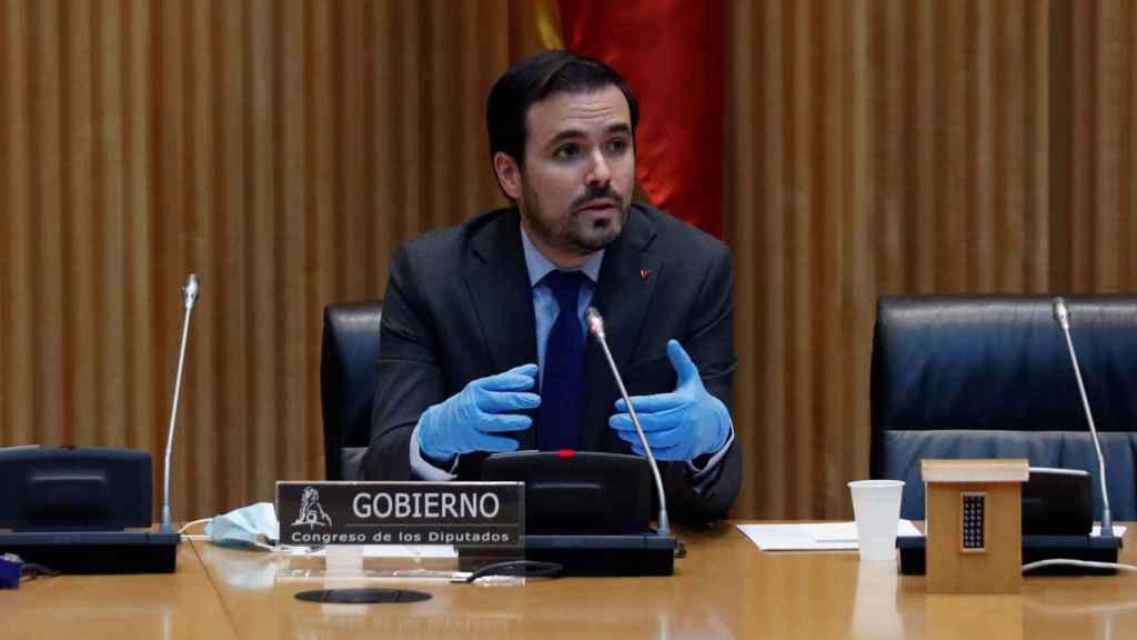 Alberto Garzón, ministro de Consumo, en el Congreso de los Diputados.