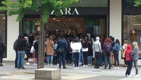 Reapertura de un Zara en Nantes.
