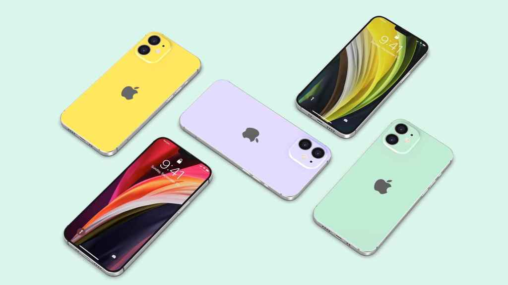 Imágenes renderizadas del iPhone 12.