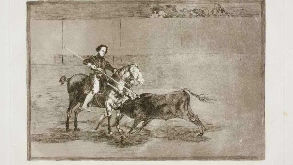 Grabado de 'Valor varonil de la célebre Pajuelera en la de Zaragoza'.