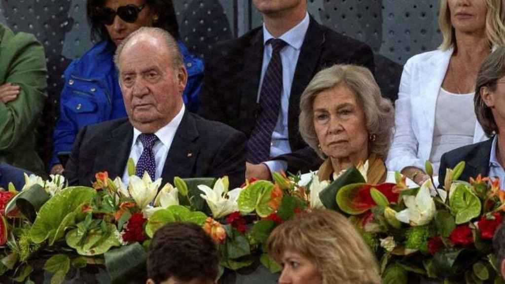 Juan Carlos y Sofía acuden al Mutua Madrid Open como eméritos.