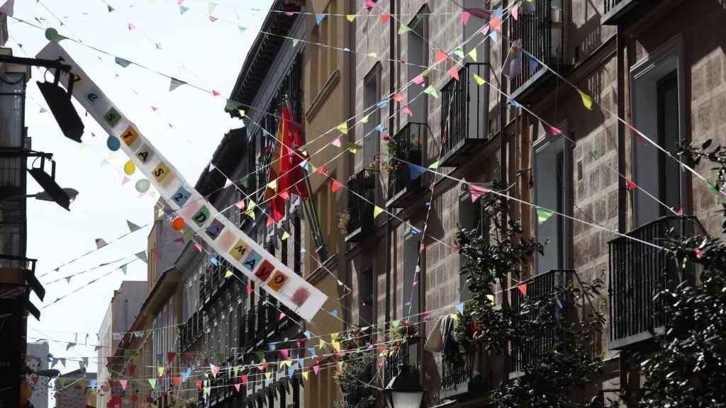 Entorno festivo en el barrio de Malasaña de Madrid.