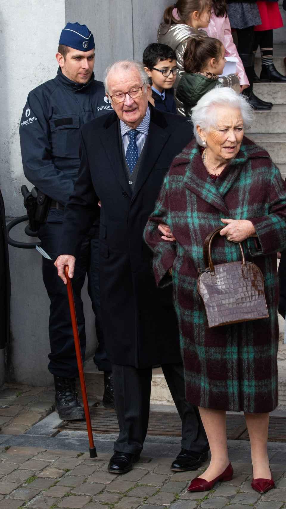 El rey Alberto y la reina Paola de Bélgica.