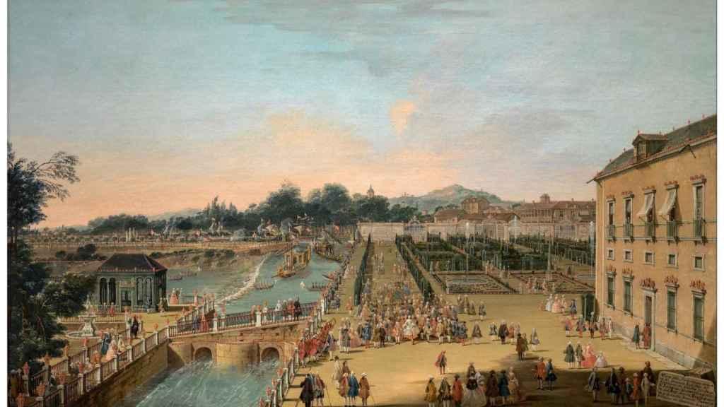 'Fernando VI y Bárbara de Braganza en los jardines de Aranjuez', de Francesco Battaglioli.