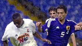 Edwin Congo, en el Partido contra la Droga entre Real Madrid y Japón