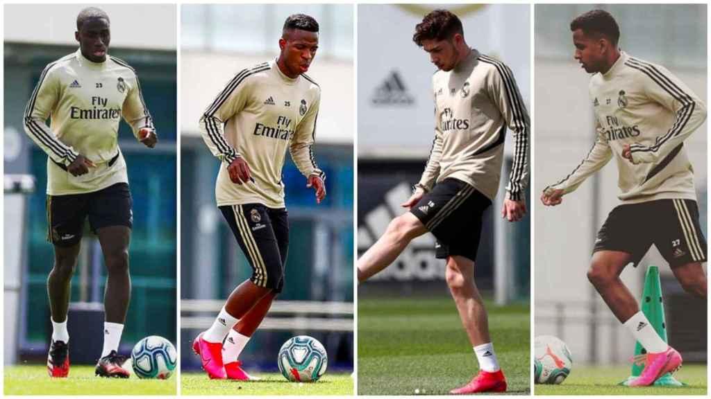 Mendy, Vinicius, Valverde y Rodrygo