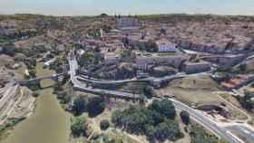 El Toledo de José María Díez Moreno en tiempos del Covid-19 (Foto: Captura de la imagen de 360 grados publicada en Facebook)