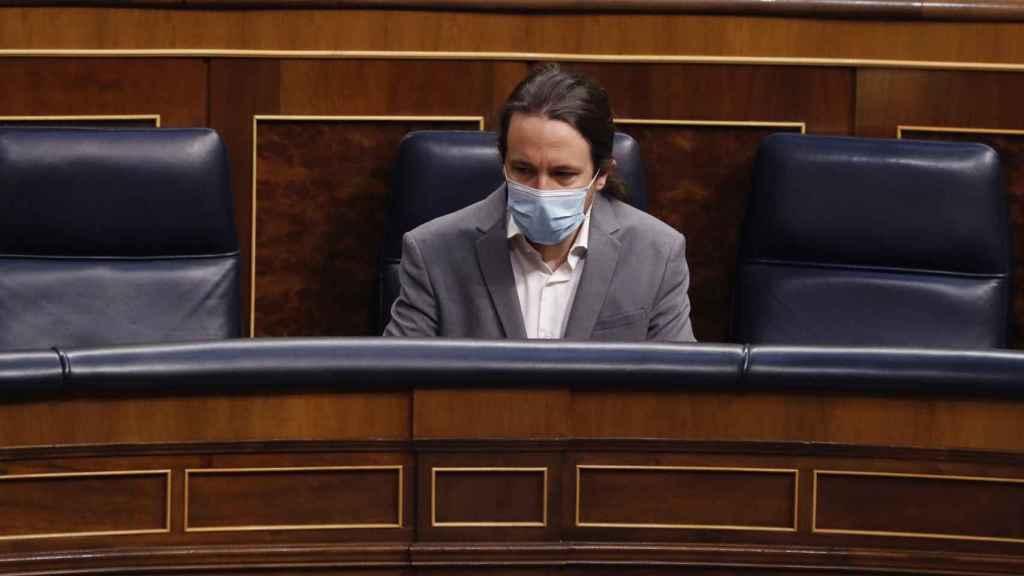 Pablo Iglesias, vicepresidente segundo del Gobierno, en el Congreso de los Diputados.