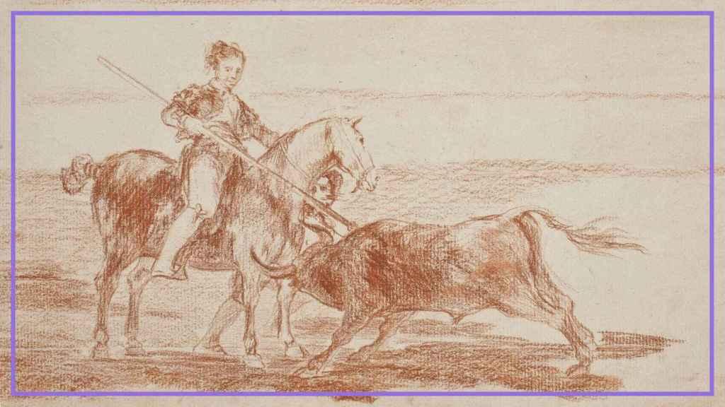 Dibujo preparatorio de 'Valor varonil de la célebre Pajuelera en la de Zaragoza', de Francisco de Goya.
