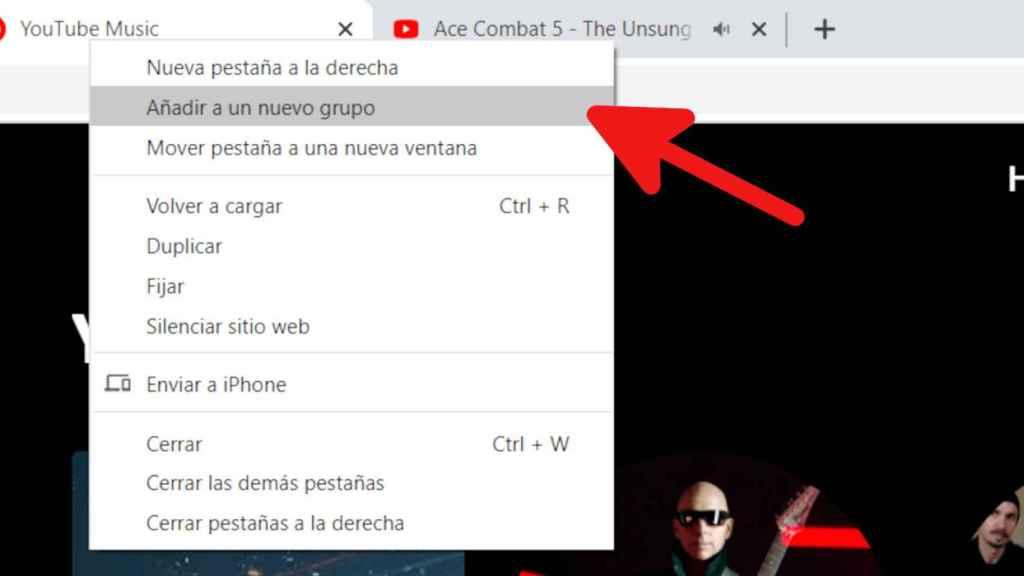 Crear nuevos grupos en Chrome es muy sencillo