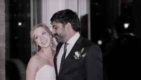 Maria Galitzine y su marido durante su boda en 2017 en una imagen de sus Redes Sociales.