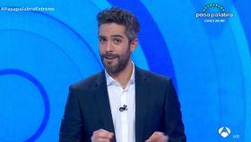Roberto Leal durante el estreno de 'Pasapalabra' en Antena 3.