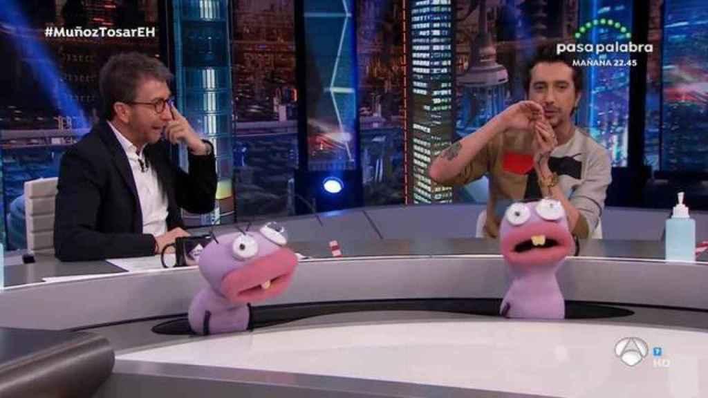 Pablo Motos y Marron durante la polémica intervención del colaborador