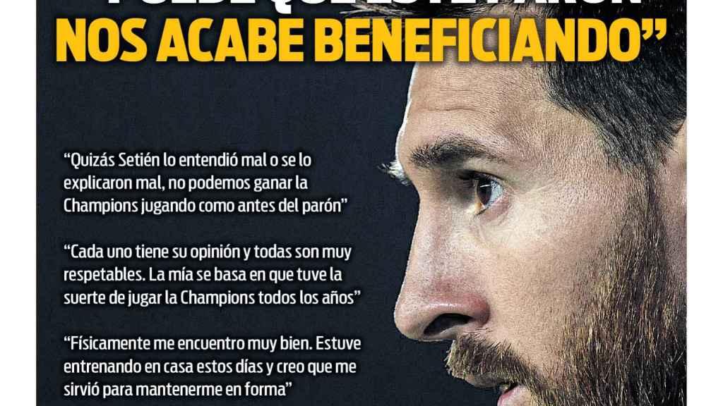 Portada Sport (15/05/2020)