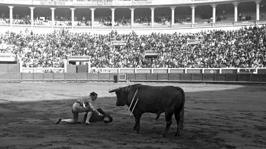 Joselito 'El Gallo' en la Plaza de Toros Monumental de Sevilla del barrio de San Bernardo.