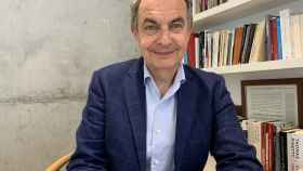 José Luis Rodríguez Zapatero desde su hogar, durante el confinamiento.
