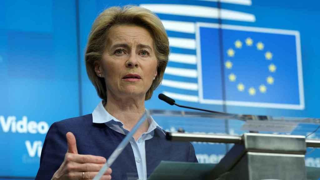 Ursula von der Leyen, presidente de la Comisión Europea.