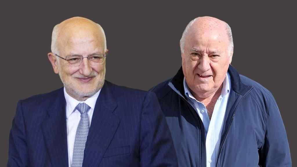 Juan Roig, presidente de Mercadona, y Amancio Ortega, de Inditex.