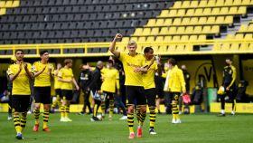El Borussia Dortmund tras el partido contra el Schalke 04