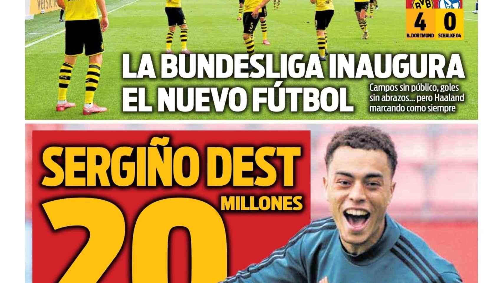 La portada del diario Sport (17/05/2020)