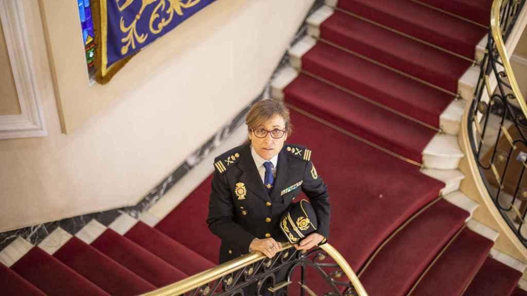 Eulalia González, en la Dirección General de la Polícia.