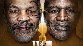 Cartel de la pelea entre Tyson y Holyfield