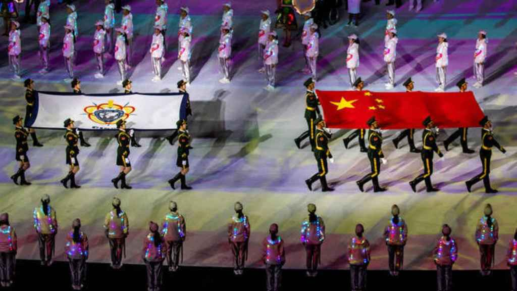 La ceremonia de los Juegos Militares de Wuhan el pasado octubre