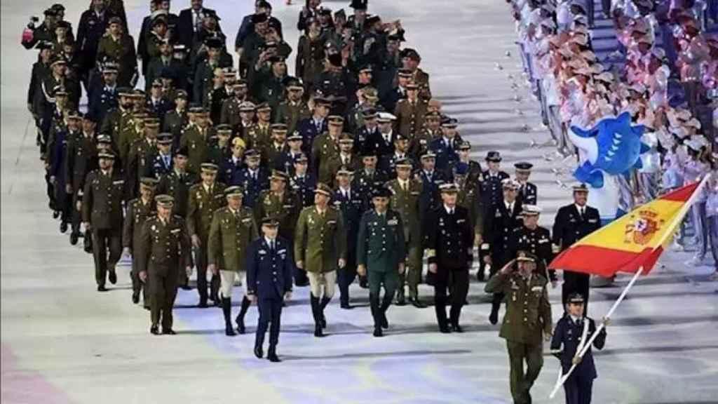 La delegación española en los Juegos Militares