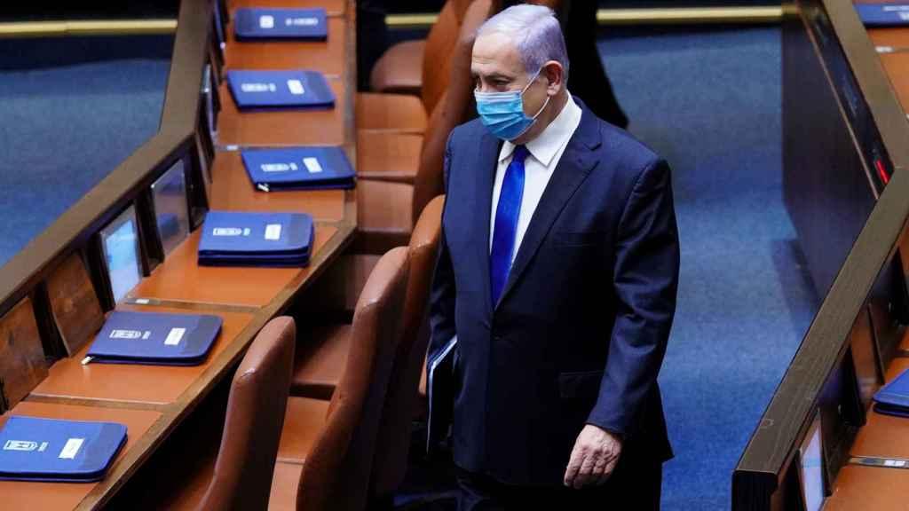 Benjamin Netanyahu en el Parlamento israelí para su toma de posesión como primer ministro.