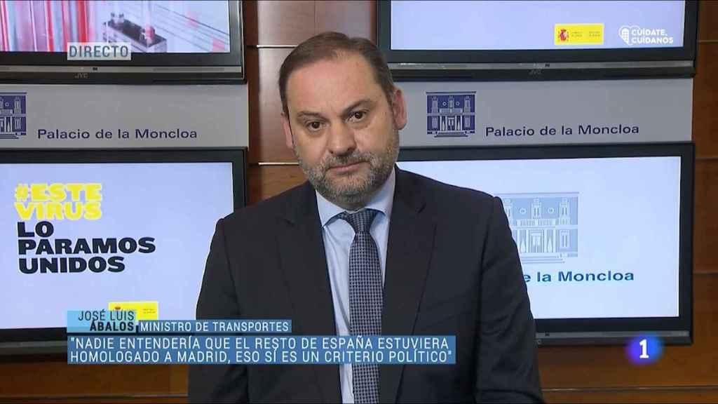 José Luis Ábalos entrevistado en 'Los Desayunos de TVE'.