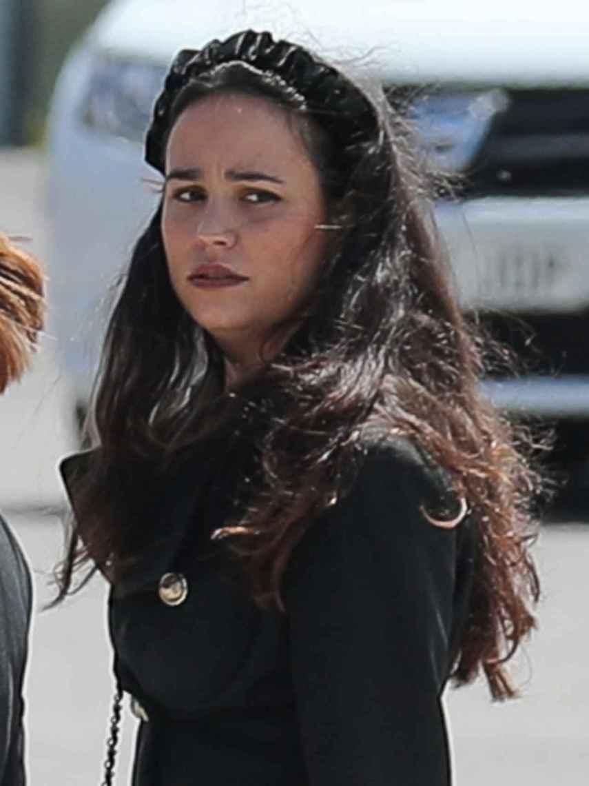 Carolina Monje, en el último adiós a su novio, Álex Lequio.