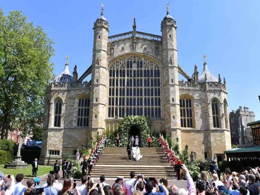 La boda de Meghan Markle y el príncipe Harry tuvo lugar en la capilla de San Jorge del castillo de Windsor.