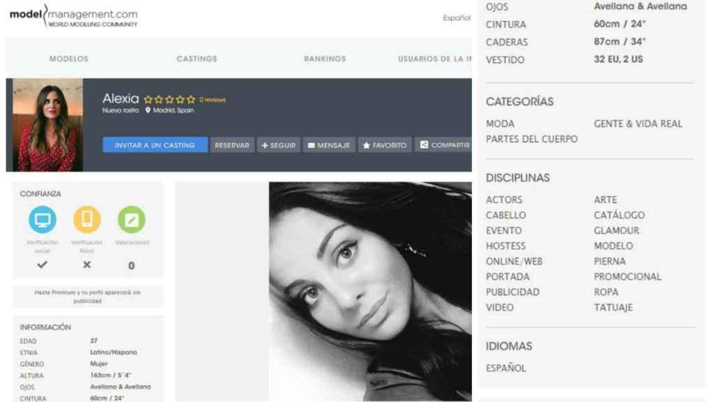 Dos pantallazos de su cuenta en 'Model Management'.