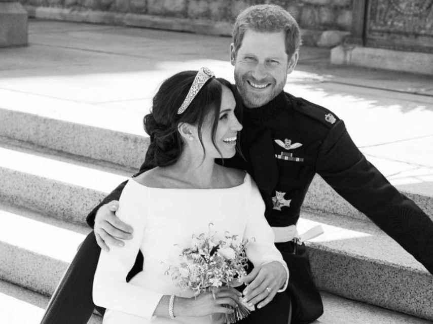 Una de las fotografías oficiales que realizó Alexi Lubomirski de la boda de Harry y Meghan Markle.