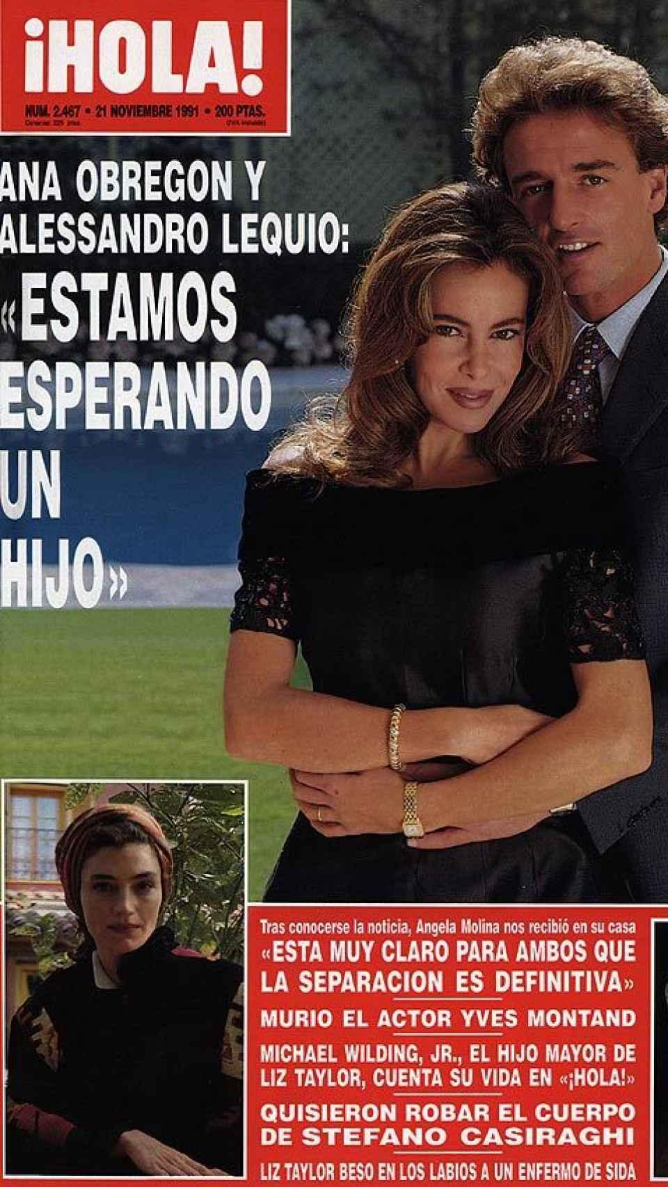 El anuncio del embarazo de Ana en 1991.