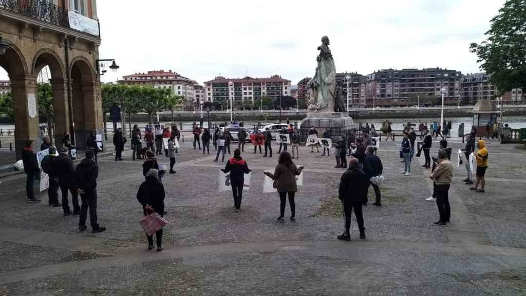 Concentración en Portugalete, organizada por la izquierda abertzale.