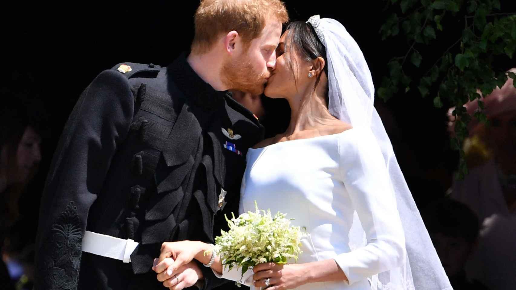 Meghan Markle y el príncipe Harry contrajeron matrimonio el 19 de mayo de 2018.