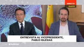 Matías Prats entrevistando a Pablo Iglesias.