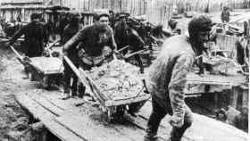 Imagen de un gulag ruso.
