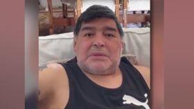 Diego Armando Maradona, durante un vídeo