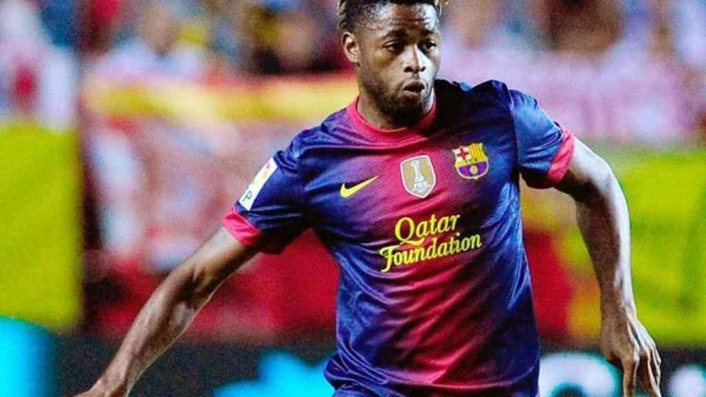 Alex Song, en un partido del Barcelona