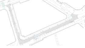 Uno de los planos del proyecto de adecuación de la Plaza Cervantes