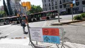 Reordenación del tráfico en la Diagonal de Barcelona